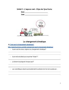 L'environnement - Compréhension de vidéos - French Listeni