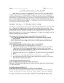 Lab #19: Stoichiometry Salt Creation Reaction