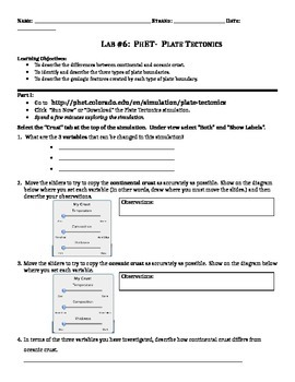 Phet Labs Worksheets & Teaching Resources   Teachers Pay