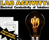 Lab Activity: Electrical Conductivity of Solutions