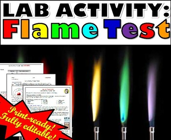 lab activity flame test by msrazz chemclass teachers pay teachers. Black Bedroom Furniture Sets. Home Design Ideas
