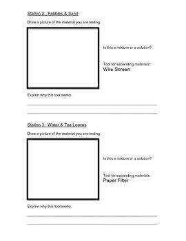 Lab Activity - Mixtures/Solutions