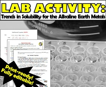 Lab Activity: Periodic Properties - Trend for Solubility