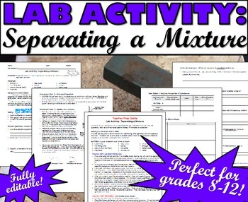 Lab Activity: Separating a Mixture