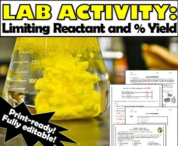Lab Activity: Stoichiometry - Limiting Reagent and Percent Yield