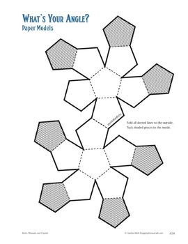 Crystals: Assemble 3D Geometric Shapes and Compare them to Mineral Crystals