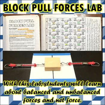 Lab: Block Pull Forces Lab