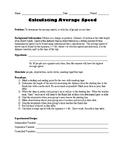 Lab: Calculating Average Speed (of classmates)