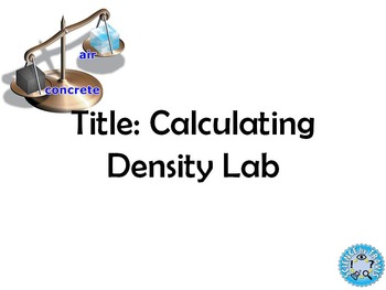 Lab: Calculating Density