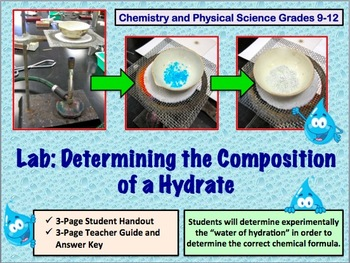 Lab: Composition of a Hydrate (High School Chemistry or Physical Science)