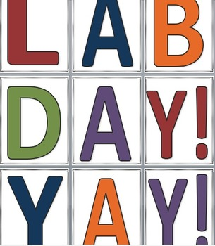 Lab Day Chemistry Banner [printable]
