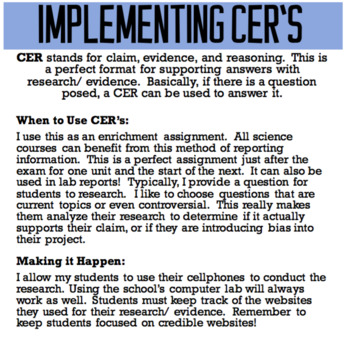 Lab: Density and Percent Error with CER