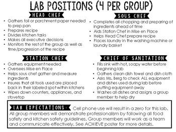 Lab Duties/Rules