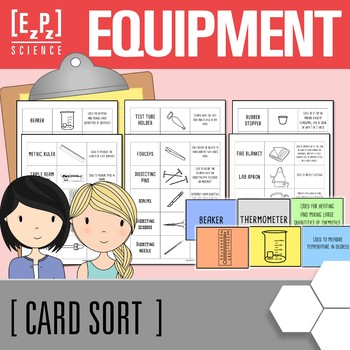 Lab Equipment Science Card Sort