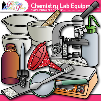 Chemistry Clip Art Lab Equipment | Measurement & Safety Tools for Science