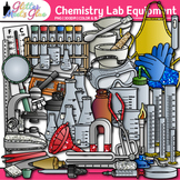 Chemistry Clip Art: Science Lab Equipment & Safety Graphic