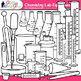 Chemistry Clip Art Lab Equipment {Measurement & Safety Too