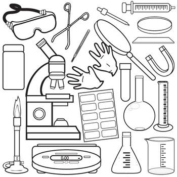 Lab Equipment Clip Art Set