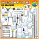 Lab Equipment Clipart (2D & 3D)