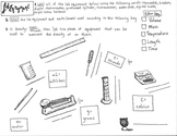 Lab Equipment Coloring Sheet; Back to school