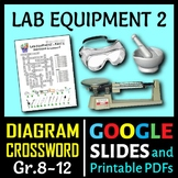 Lab Equipment Crossword with Diagram - Part 2 {Editable}