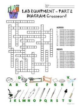 lab equipment crossword with diagram part 2 editable by tangstar rh teacherspayteachers com