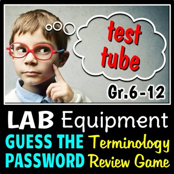 Lab Equipment - Guess the Password Terminology Review Game {Editable}