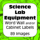 Lab Equipment Identification Word Wall & Cabinet Labels for Science Labs