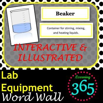 Lab Equipment Interactive Word Wall