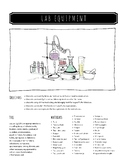 Lab Equipment Lesson Plan and Worksheets