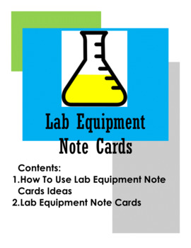 Lab Equipment Note Cards