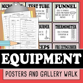 Lab Equipment Science Posters and Gallery Walk