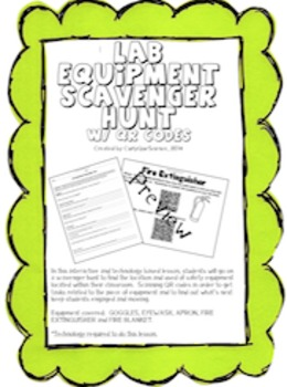Lab Equipment QR Code Scavenger Hunt