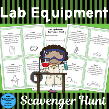 Lab Equipment Scavenger Hunt plus foldables