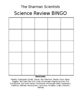 Lab Equipment & Scientific Method BINGO