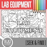 Lab Equipment Seek and Find Science Doodle Page