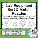 Lab Equipment Sort & Match 3-Way Puzzles: 38 Common Lab Items
