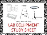 Lab Equipment Study Sheet
