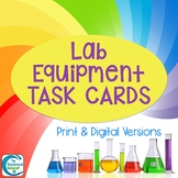 Lab Equipment Task Cards: Biology and Life Science Activity