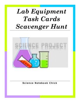 Lab Equipment Task Cards Scavenger Hunt