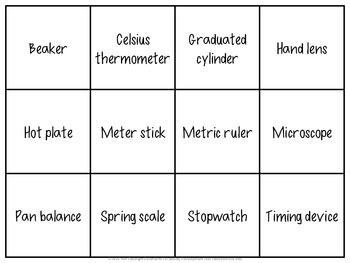 Lab Equipment Vocabulary Review Games