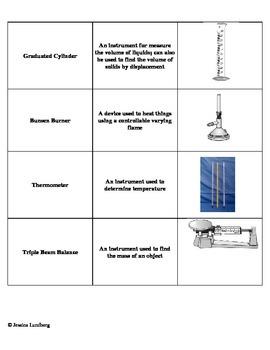 Lab Equipment Word Sort