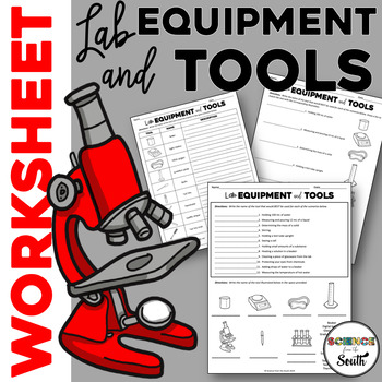Lab Equipment Worksheet Printable for Middle and High Scho