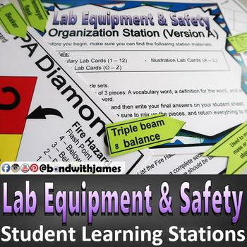 Lab Equipment and Lab Safety Student Blended Learning Stations