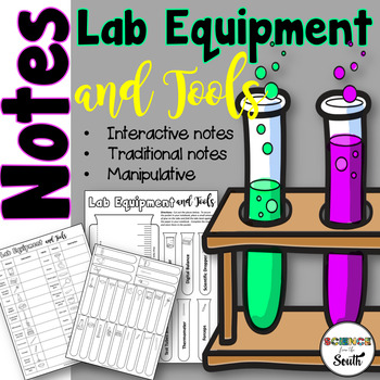 Lab Equipment and Tools Cut Out For Interactive Notebooks and More