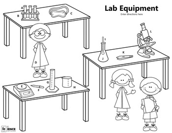 Lab Equipment and Tools Matching and Coloring