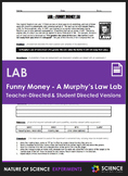 Lab - Funny Money - A Murphy's Law Lab (Teacher & Student