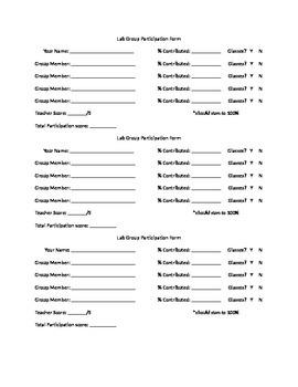 FREE Lab Group Participation Form