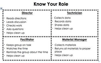Lab Group Roles Worksheet