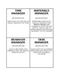 Lab Group/Small Group Job Descriptions